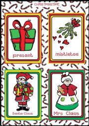 Christmas FLASHCARDS 3 - 5