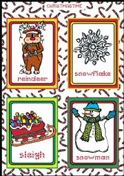 Christmas FLASHCARDS 4 - 5