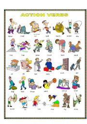 English Worksheet: Action verbs.