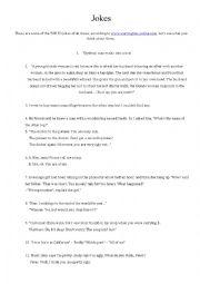 English Worksheet: Best jokes in English