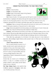 English Worksheet: The Giant Chinese Panda
