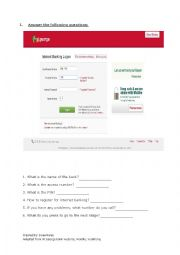 English Worksheet: Internet banking 2