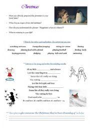 English Worksheet: Christmas advert video + song (Present Simple)