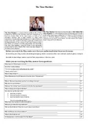 English Worksheet: Task sheet for the film: The time machine (1960)
