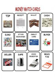 Money Match Cards