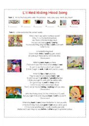 English Worksheet: Little Red Riding Hood Song