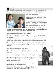 English Worksheet: Childhood Reading / Grrammar / Comprehension Sheet