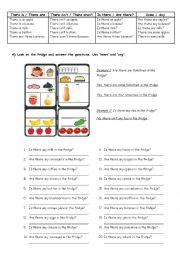 English Worksheet: There is/There are with Breakfast