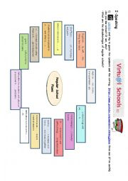 English Worksheet: Unit 2 lesson 3 4th form Virtual Schools Part 1/6