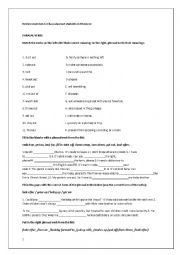 English Worksheet: review exercises for baccalaureat students in Morocco