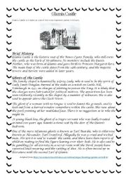 Glamis Castle - Spooky Stories unit