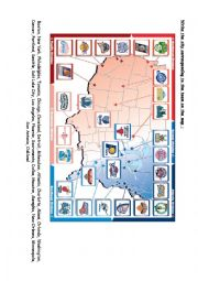 English Worksheet: NBA Map