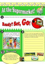 English Worksheet: At the Supermarket