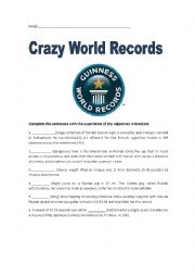 English Worksheet: Superlatives. Crazy World Records