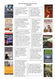 English Worksheet: Agatha Christie Books covers