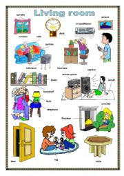 English Worksheet: Living room.