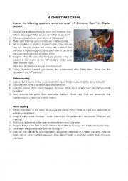 English Worksheet: A Christmas Carol: questions
