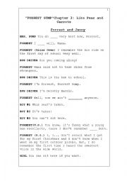 English Worksheet: Forrest Gump Chapter 3 Vocabulary Gap Fill