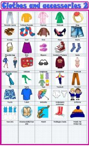 English Worksheet: Clothes pictionary new version
