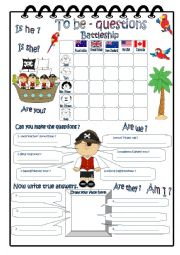 English Worksheet: To Be - Questions