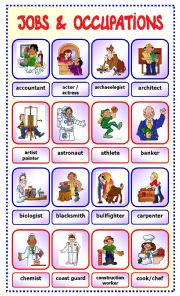 English Exercises: Professions and occupations!