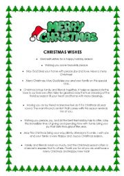 English Worksheet: Christmas wishes