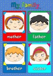 My family - flashcards (1/2)