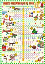 English Worksheet: Christmas crossword puzzle