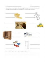 English Worksheet: British/American English vocabulary
