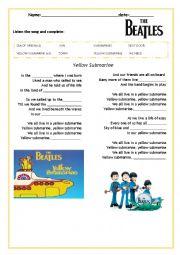 yellow submarine (lyrics)
