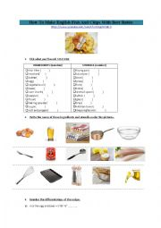 English Worksheet: How to make English fish and chips with beer batter