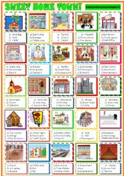 English Worksheet: City places: multiple choice activity