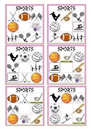 English Worksheet: SPORTS BINGO 3