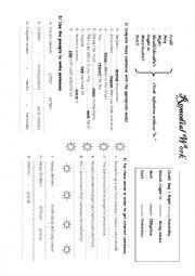 English Worksheet: Remedial work 9th level M3