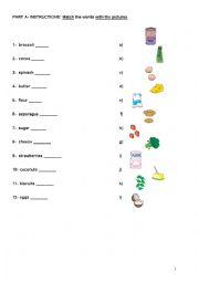 English Worksheet: food-some-any