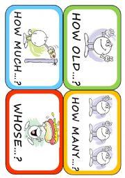 English Worksheet: Wh- words (3/3)