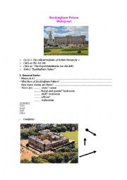 English Worksheet: Buckingham Palace Webquest