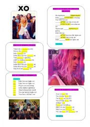 English Worksheet: BEYONCE ´XO´