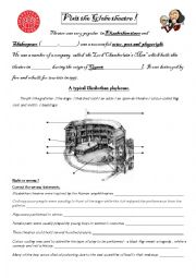 English Worksheet: Visit the Globe Theatre!
