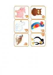 English Worksheet: animals flashcards. part 9