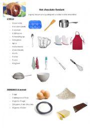 English Worksheet: CLIL - cooking