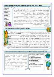 English Worksheet: MID TERM TEST FOR 9TH FORM