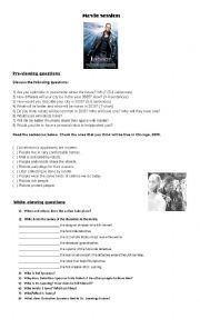 English Worksheet: I Robot Movie Session