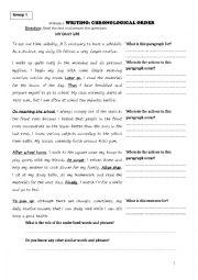 Chronological order essay exercises