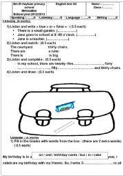English Worksheet: 6th form exam