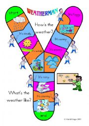 English Worksheet: Y Track Weatherman and Talking Card with blank capital Y