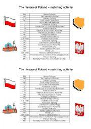 English Worksheet: The history of Poland