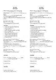 English Worksheet: All Of ME- John Legend Worksheet