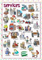 English Worksheet: Services (Picture Dictionary)