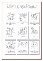 English Worksheet: A Short History of America